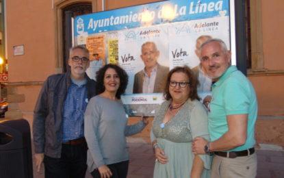 Adelante La Línea hizo su pegada de carteles en el Museo del Istmo