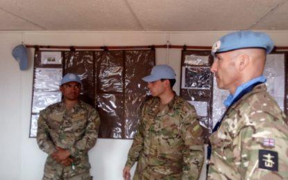 El Real Regimiento de Gibraltar sigue prestando apoyo de formación a las tropas chilenas de paz de Naciones Unidas