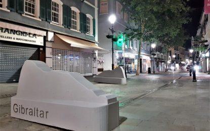 Sustitución de las barreras de Jersey en el centro de la ciudad de Gibraltar