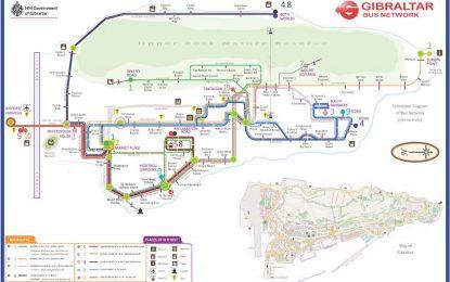 El Gobierno de Gibraltar lanza un nuevo mapa de la red de autobuses de Gibraltar como parte del plan para mejorar la oferta de transporte púbico