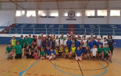 Hoy se ha celebrado en el Pabellón Polideportivo la Liga Escolar Municipal de Baloncesto