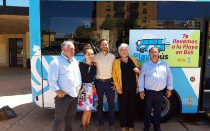 """Presentado el nuevo servicio de transportes """"Playabús"""" que iniciará su actividad el 29 de junio"""
