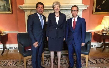 El Ministro Principal de Gibraltar aborda con May temas relacionados con el petrolero Grace 1 y el Brexit