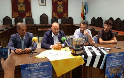 Presentada la XXXII edición del Trofeo Ciudad de La Línea que disputarán   el próximo sábado el Cádiz y la Real Balompédica Linense
