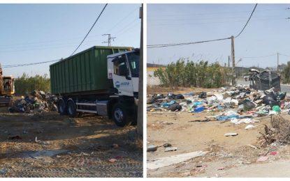 Limpieza acomete la recogida de residuos en el Camino de Torrenueva