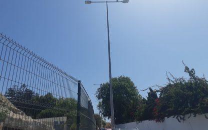 Los trabajos de sustitución de luminarias por lámparas leds continúan por distintos puntos de la ciudad