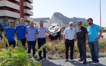 Inaugurada oficialmente la rotonda dedicada a la Real Balompédica Linense
