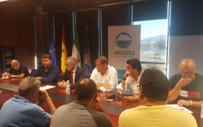 Lozano y Macias se reúnen con el comité de empresa de Arcgisa