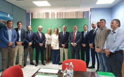 Lozano asiste a la reunión con el consejero de Economía para conocer las medidas de la Junta de Andalucía para el Brexit