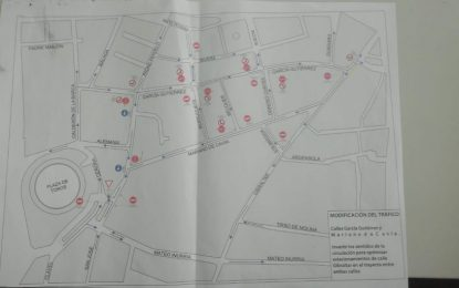 Mañana se modifican los sentidos de circulación en las calles García Gutiérrez y Mariano de Cavia