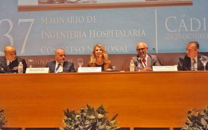 Ana Mestre valora la labor de los ingenieros hospitalarios y del sector sanitario en el Congreso Nacional que se celebra en Cádiz