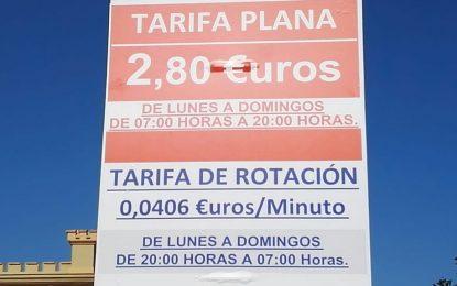 Isolux limita la tarifa plana del parking de debajo del Ayuntamiento hasta las ocho de la tarde, costando luego el minuto cuatro céntimos de euro