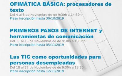Andalucía Compromiso Digital y la concejalía de Empleo abren los plazos para cursos presenciales gratuitos  de  alfabetización digital
