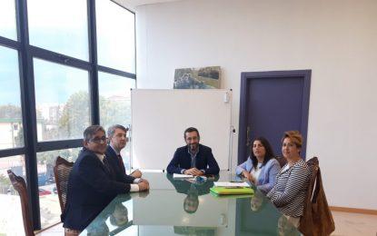 El alcalde aborda con responsables de la ONCEla posibilidad de contar con un cupón alusivo al 150 Aniversario de la ciudad