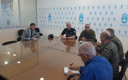 El Ayuntamiento ultima con el Acuartelamiento Cortijo Buenavista los actos de izado y jura de bandera del 6 de diciembre