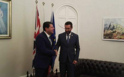Juan Franco aborda con Picardo la situación del Brexit y la fluidez de la frontera en su primera reunión tras las elecciones gibraltareñas