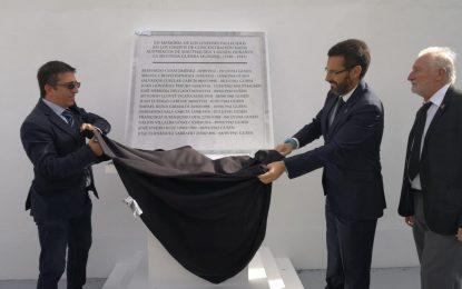 Inauguración del monolito en memoria de los 13 linenses fallecidos en los campos de concentración nazis de Austria durante la II Guerra Mundial