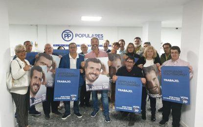 El PP de La Línea inició su campaña con la ilusión de aupar a Pablo Casado a la presidencia del Gobierno