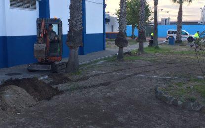 Deportes y Parques y Jardines realizan trabajos de acondicionamiento y mejoras en el entorno de la Ciudad Deportiva