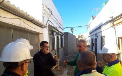 Las obras del Pasaje María Guerrero supondrán la dotación de nuevo saneamiento y conducciones de agua para evitar inundaciones