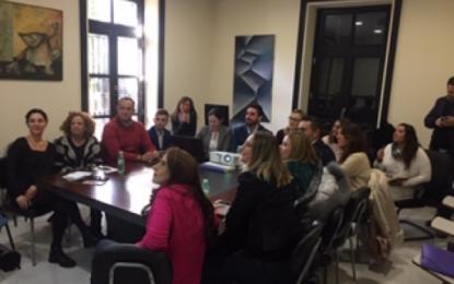 Mercedes Atanet asiste a una reunión en Mancomunidad para la organización de Fitur 2020