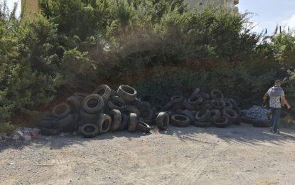 Verdemar Ecologistas en Acción denuncia la presencia de gran cantidad de neumáticos en La Línea