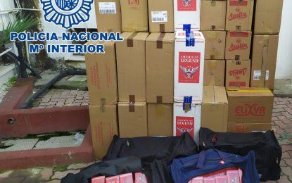 La Policía Nacional detiene en La Línea de la Concepción a cuatro personas como presuntos autores de un delito de contrabando