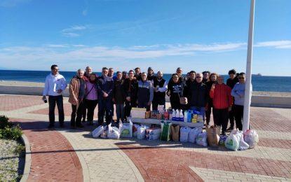 Verdemar Ecologistas en Acción y la Asociación 3 de Noviembre de 1730 Fuerte de Santa Bárbara recogieron una tonelada de alimentos y productos de higiene durante la mañana