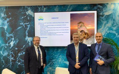 Gibraltar acude a la Conferencia de Naciones Unidas sobre el Cambio Climático en representación de los Territorios Británicos de Ultramar