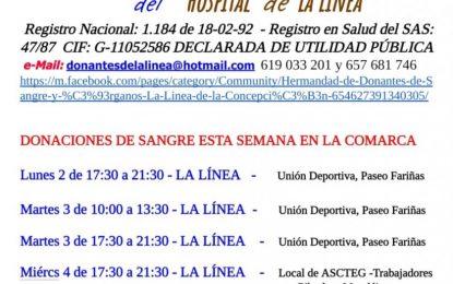 Desde mañana y a lo largo de la semana se puede donar sangre en La Línea y en Algeciras