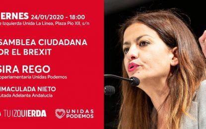 La diputada en el Parlamento Europeo por Unidas Podemos, Sira Rego, efectuará una amplia visita a La Línea de la Concepción, mañana viernes 24.