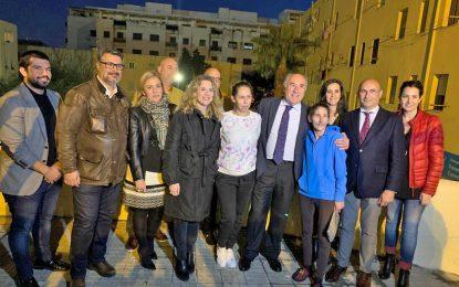 La Junta pone en funcionamiento la nueva iluminación de la plaza del Rosario, en Algeciras