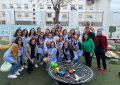 Hidalgo visita el IES Antonio Machado para conocer el nuevo jardín de infancia diseñado por alumnas del centro en colaboración con el Ayuntamiento