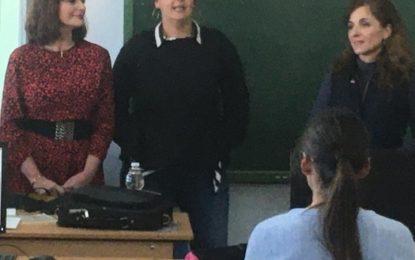 La concejal Zuleica Molina participa en una charla sobre Igualdad y Prevención de Violencia de Género en el Instituto Virgen de la Esperanza