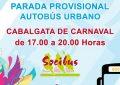 Movilidad Urbana programa cambios en los servicios públicos de autocares urbanos y taxis con motivo de la Cabalgata de Carnaval