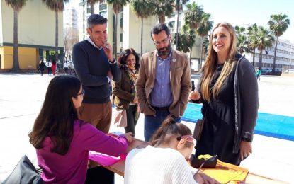 Franco e Hidalgo han visitado hoy la Semana Cultura Andaluza del CEIP Andalucía
