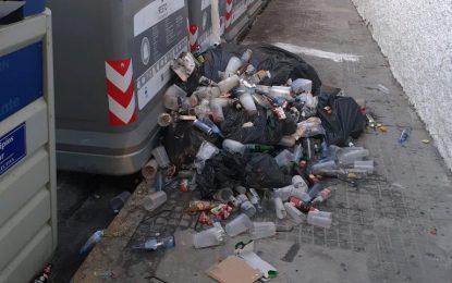 El Ayuntamiento pide mayor concienciación para cumplir con lo dispuesto en las ordenanzas  de depósito de basuras