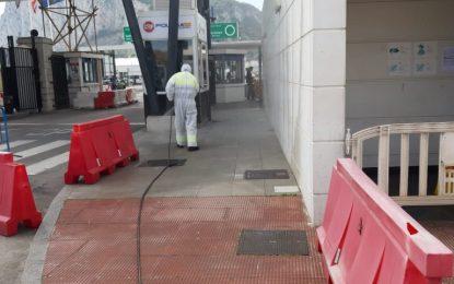 Limpieza ha procedido a la desinfección de todas las instalaciones de la frontera