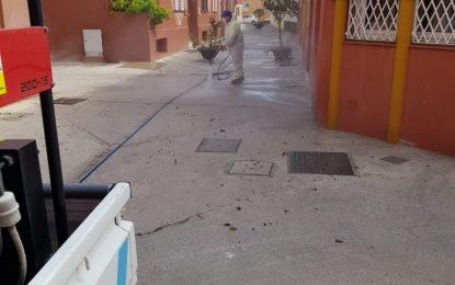 Limpieza dar por finalizadas las labores de desinfección  con actuaciones por toda la ciudad