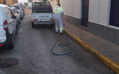 La desinfección de dependencias municipales se realizará con mayor frecuencia en aquellas no acogidas al teletrabajo