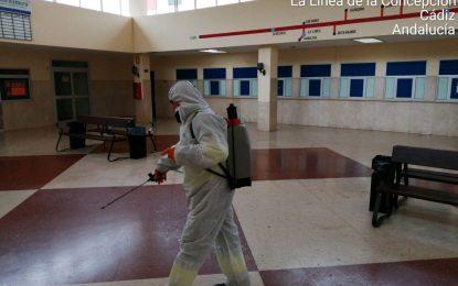 Los trabajos de desinfección de la Estación de Autobuses se realizaron de forma coordinada entre el Ayuntamiento y la concesionaria