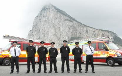 Nuevos integrantes se unen al servicio de bomberos, al de rescate de Gibraltar y al de rescate del aeropuerto gibraltareño