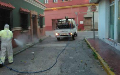 Limpieza ha iniciado hoy su cuarta semana consecutiva de trabajos de desinfección por toda la ciudad