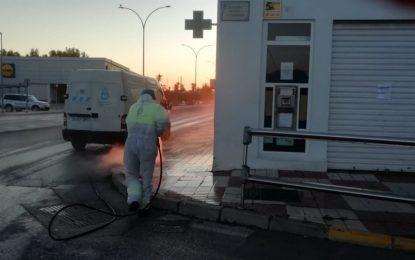 25 operarios de Limpieza, Parques y Jardines y Recolte han finalizado hoy la segunda fase de desinfección que continuará el próximo lunes