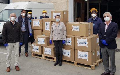 La subdelegada agradece la donación de material de protección contra el COVID-19 realizada por el puerto de Algeciras
