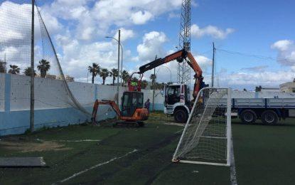 El Ayuntamiento refuerza la vigilancia de los campos de fútbol de la ciudad deportiva ante  la irrupción  no autorizada de niños y adultos