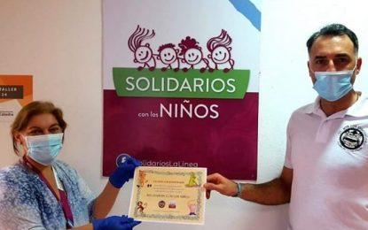 El ClubMtb Los Enmonaos La Líneahizo entrega a Solidarios con los niños de la cantidad recaudada en la Kedada Solidaria