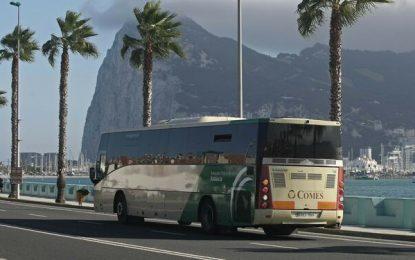Los viajeros del Consorcio de Transporte del Campo de Gibraltar bajan a la mitad en marzo