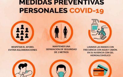La delegación de Salud informa de las normas sanitarias frente al coronavirus que deberán seguir todos los establecimientos públicos que reabren
