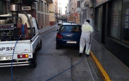 Limpieza ejecuta nuevos trabajos de desinfección en la Aduana y calles y plazas del centro de la ciudad